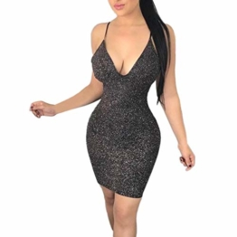 Beikoard Damenkleider Sexy Ärmellos Cocktail Kleid Ärmellos Minikleid rückenfrei Party Bodycon-Kleid Club Kurzes Wickelkleid - 1