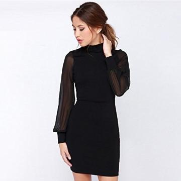 Belle Style Rückenfrei Kleid Damen IHRKleid® Elegant Etuikleid Knielang Festliche Kleider (M, Schwarz) - 2