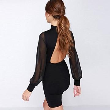 Belle Style Rückenfrei Kleid Damen IHRKleid® Elegant Etuikleid Knielang Festliche Kleider (M, Schwarz) - 3