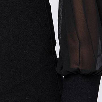 Belle Style Rückenfrei Kleid Damen IHRKleid® Elegant Etuikleid Knielang Festliche Kleider (M, Schwarz) - 5