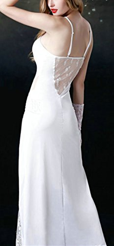 Bestfort Damen Dress Spitzen Clubwear Nchtclubs Kleider Hohl Lace Spitze Long Weiß 2017 Sommer on Sale Sexy Party Kleid Clubdress -