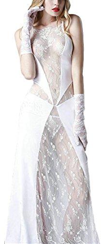 Bestfort Dress Spitzen Clubwear Nachtclub Kleid Lang Transparent Sexy Kleider Com