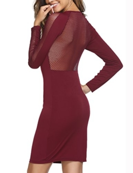 Beyove Damen Etuikleid Bleistiftkleid Bodycon Kleid Business Ärmellos Party Abendkleid Knielang (EU 38(Herstellergröße:M), A Weinrot) - 1