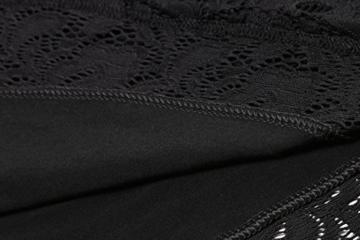 Beyove Damen Schulterfreies Spitzenkleid mit Knielang Langarm sexy Cocktailkleid Abendkleid Blumenkleid Partykleid - 7