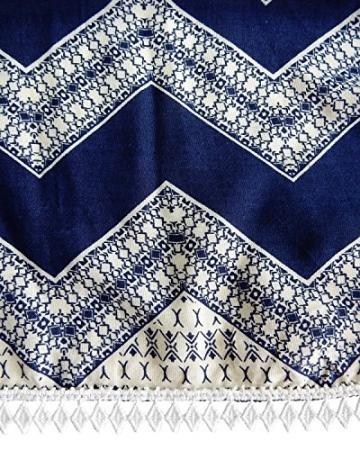 BIUBIU Damen Sommer Minikleid Tunika Strandkleid Hohle Spitze Druck Kurz Kleider Streifen DE 36 -