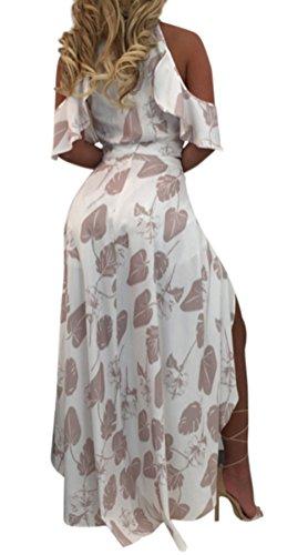 Blansdi Damen Sommer Elegant Spaghetti-Bügel V-Ausschnitt Strandkleid Floral Zweiteiler Kleider Sets Crop Tops A-linie Rock Abendkleid Cocktailkleid Clubwear Partykleid -