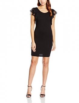 Blend Damen Schlauch Kleid Frilly dress CA1, Mini, Gr. 36 (Herstellergröße: S), Schwarz (20100 Black) - 1