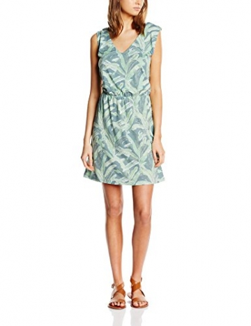 blue seven Damen Kleid Da V - Ausschnitt, o. Arm, Mini, Gr. 36 (Herstellergröße: S), Grün (SEA ORIG 611) -