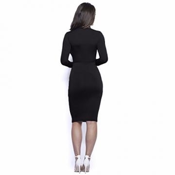 bodycon Verband dehnbar Tief Kropf V-Ausschnitt mit langen Ärmeln Midi-Länge Kleid prom -