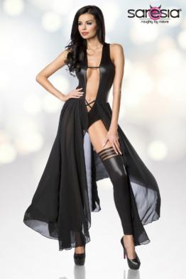 Bodydress Gogo Outfit im Metallic Wetlook