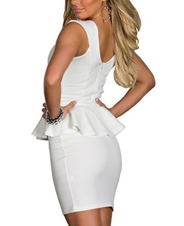 Boliyda Sexy Sexi Sommer Bodycan Backless Low Cut Flounce Slim Club Kleid Clubwear Partywear Casual Tägliches Kleid für Damen Damen Dame Weiß XL Größe - 2