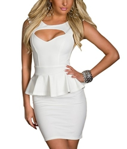 Boliyda Sexy Sexi Sommer Bodycan Backless Low Cut Flounce Slim Club Kleid Clubwear Partywear Casual Tägliches Kleid für Damen Damen Dame Weiß XL Größe - 1