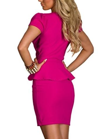 Boliyda Sexy Sexi Sommer Bodycan Low Cut V-Ausschnitt flounce Slim Club Kleid Clubwear Partywear Casual Tägliches Kleid für Damen Damen Dame Rose Red L Größe - 2