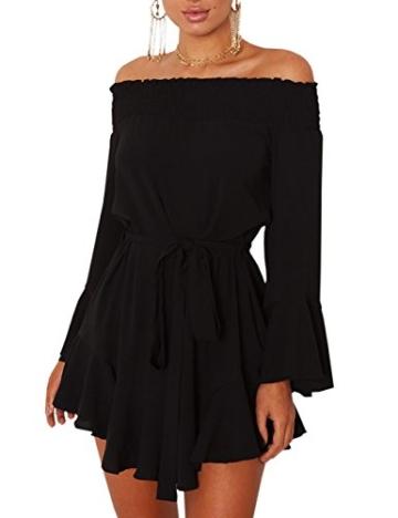 Schulterfreie kleider schwarz