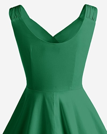 Bridesmay Damen Vintage 50S Retro Partykleid Rockabilly Knielang Cocktailkleid Green 3XL - 5