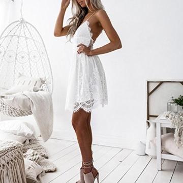 Btruely Kleid Damen Elegant Minikleid Ärmellos Abendkleid Bodycon Sommerkleid Partykleid Bleistift Kleid Boho Cocktailkleid - 2