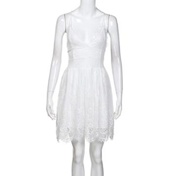 Btruely Kleid Damen Elegant Minikleid Ärmellos Abendkleid Bodycon Sommerkleid Partykleid Bleistift Kleid Boho Cocktailkleid - 4