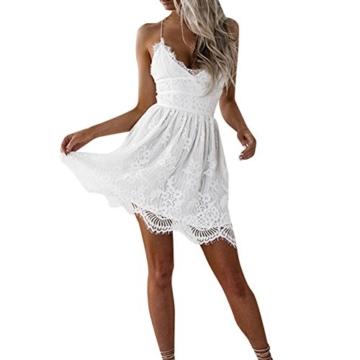 Btruely Kleid Damen Elegant Minikleid Ärmellos Abendkleid Bodycon Sommerkleid Partykleid Bleistift Kleid Boho Cocktailkleid - 1