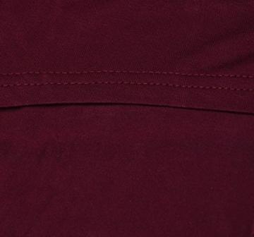 Burgund Damen Lose Asymmetrisch Schulterfrei Langarm Batwing Pullover Bluse Oberteile Oversized Tops T-shirt Minikleid (42, Burgund) -