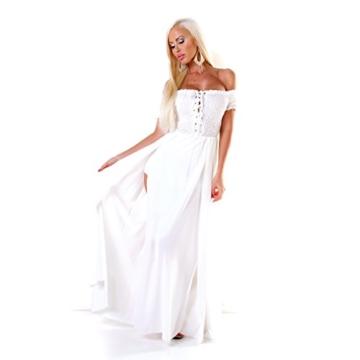 Carmen Jersey Boho Stretch Maxikleid Smok Romantik One Size (Einheitsgröße) - 3