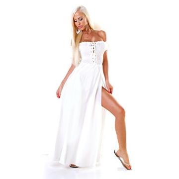 Carmen Jersey Boho Stretch Maxikleid Smok Romantik One Size (Einheitsgröße) - 4