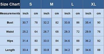 CHICME BEST SHOPPING DEALS Damen Gradient Farben Streifen Bodycon Mini Kleid Weiß L - 4