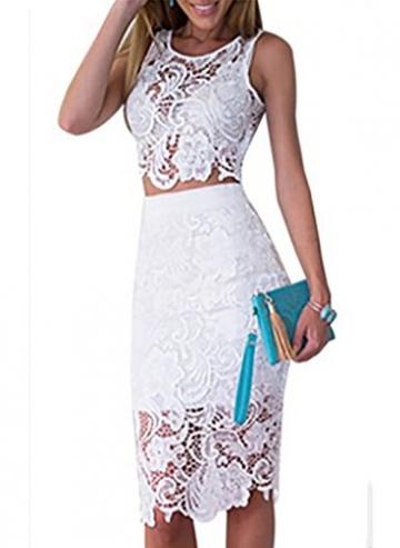 low priced 1748c f796d Sexy Sommerkleid Casual in weiß und mit Spitze