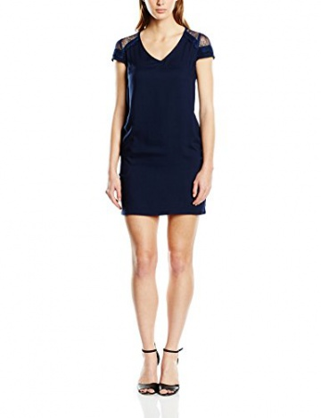Color Block Damen Kleid, Uni Gr. 36, Blau - Blau (Navy) - 1