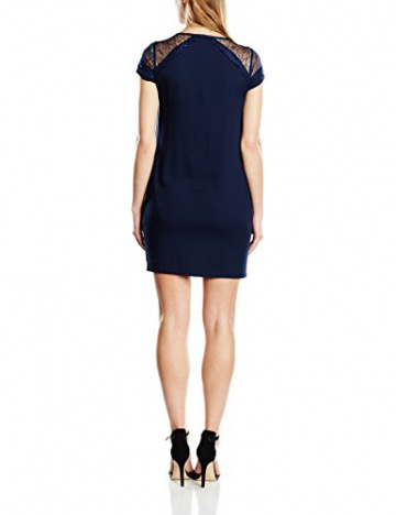 Color Block Damen Kleid, Uni Gr. 36, Blau - Blau (Navy) - 2