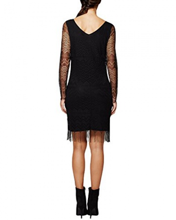 Comma Damen Kleid 81.511.82.3223, Knielang, Gr. 46, Schwarz (black 9999) - 2