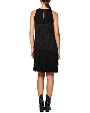 Comma Damen Kleid 89.511.82.3220, Knielang, Gr. 42, Schwarz (black 9999) - 2