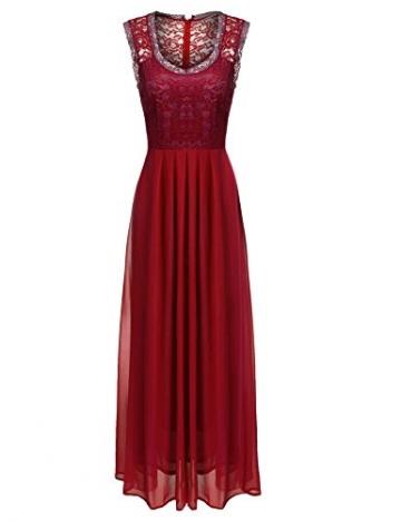 CRAVOG Abendkleider Damen Partykleider Tief V Ballkleider Retro Lange Elegante Kleider Abendmode Ärmellose Sommerkleider -