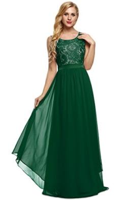 CRAVOG Abendkleider Sommerkleider Damen Maxikleid,  Gruen, Gr. EU 36 / L - 1