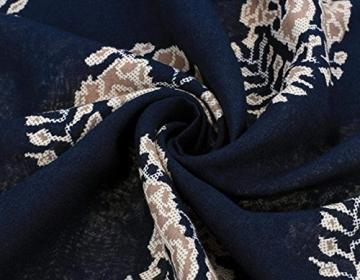CRAVOG Frauen Sommerkleid Casual Strandkleid Minikleid mit Rundhalsausschnitt 3/4 Sleeve Damen Kleid - 6