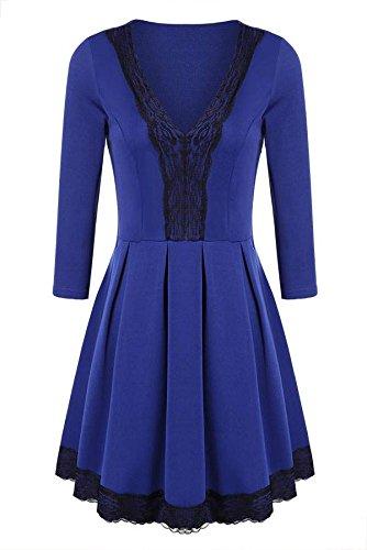 CRAVOG Sexy Damen Abendkleider Festkleid kurze Minikleider Damen Kleid elegant - 2