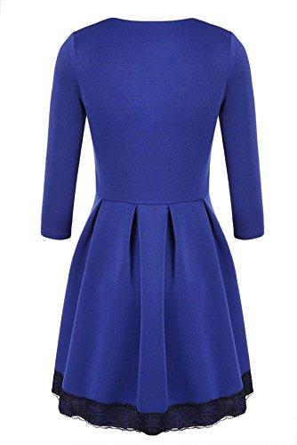 CRAVOG Sexy Damen Abendkleider Festkleid kurze Minikleider Damen Kleid elegant - 3