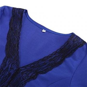 CRAVOG Sexy Damen Abendkleider Festkleid kurze Minikleider Damen Kleid elegant - 4