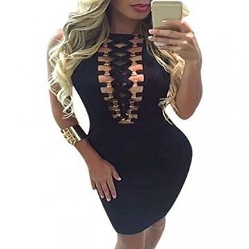 CRAVOG Sexy Damen Ballkleider Kleid für Party Damen Minikleider Abendklei - 2