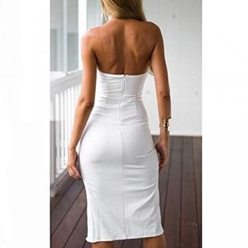CRAVOG Sexy Damen Cocktailkleider Minikleid Partykleid Abendkleid Clubwear Bodycon Kleid -