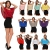 Damen Bluse Chiffon Tunika Minikleid 2 in 1 Oberteil in 15 Farben - 2