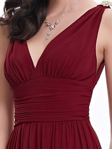 Damen Bohemian Tief-V-Ausschnitt Einfarbig Sommer Chiffon Langes Rock-Kleid Abend Cocktailparty Strand Sommerkleider Maxi Dress -