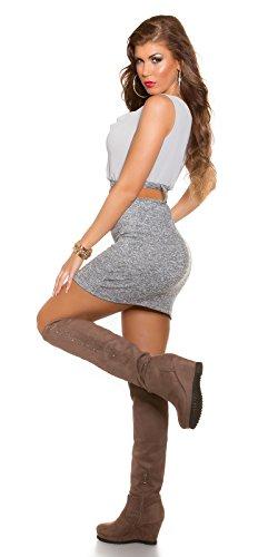 Damen Etui Minkleid Mit Gürtel One Size 34 36 38 GRAU Partykleid Abendkleid - 5