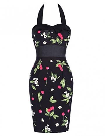 Damen neckholder kleid bleistift kleid partykleider cocktailkleider sommerkleid Größe 44 CL4590-1 -