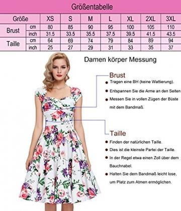 83c0813947c9cc Damen rockabilly kleid 50er jahre kleid Blumenmuster festliche kleider  Sommerkleid knielang M -