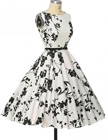Damen rockabilly kleid 50er jahre kleid Blumenmuster festliche kleider Sommerkleid knielang M -