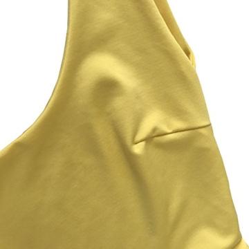 Damen Rückenfrei Ärmellos Partykleid Etuikleid Mini Kurze Abendkleider Bodycon Sommerkleid (L, Gelb) - 6