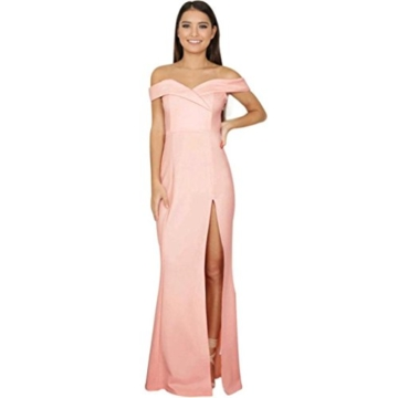 Damen Rückenfrei Cocktail Kleid Rosennie Frauen Sommer Reizvolle Elegant Formale Lange Ballkleid Party Prom Kleid Stitching Abschlussball Lässig Rückenfrei Brautjungfer Abend Maxikleid (S, Rosa) - 1