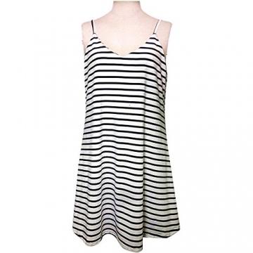 Damen Sommer Ärmellos Minikleid, LILICAT Frauen Chic Kleid Gestreiften Strand Partei Beiläufig Sundress Kurzer Kleider (L, Blau) -