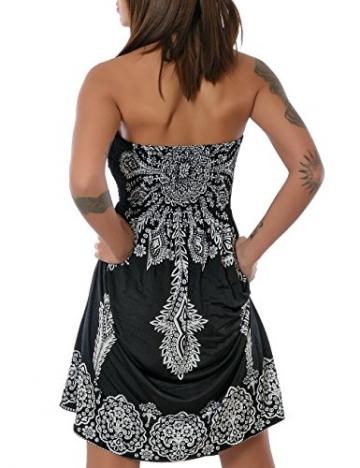 Damen Sommerkleid Strandkleid (weitere Farben) No 13765, Farbe:Schwarz (N304);Größe:One Size -
