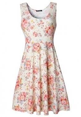 Damen Vintage Sommerkleid Traeger mit Flatterndem Rock Blumenmuster -